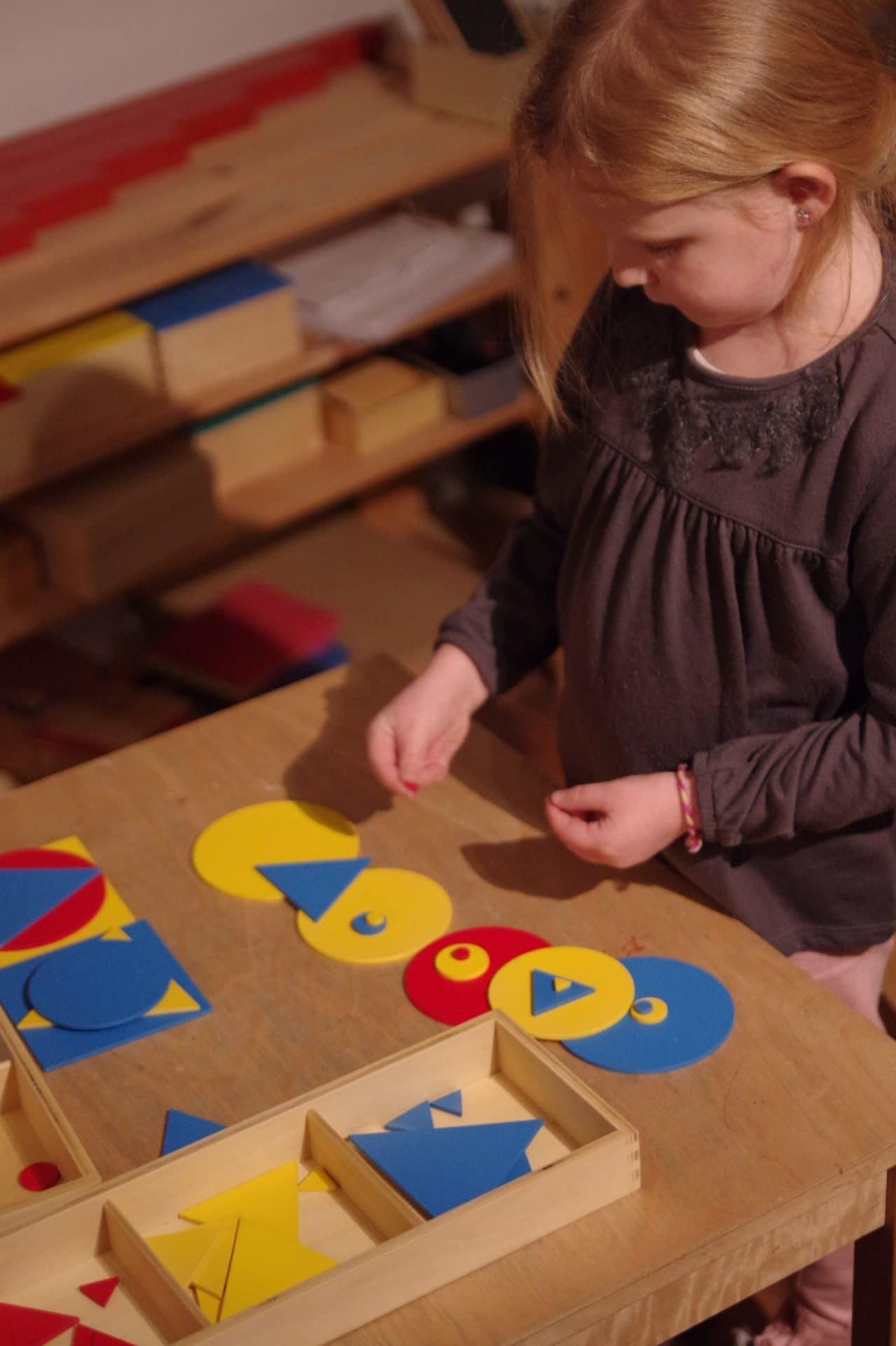 Atelier Montessori en Alsace, Vie sensorielle