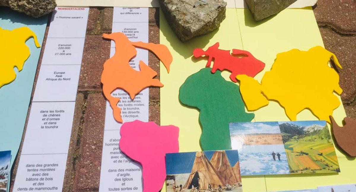 montessori Education Cosmique géographie