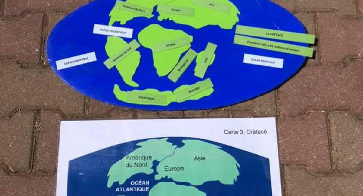 education cosmique montessori terre continent tectonique des plaques terre